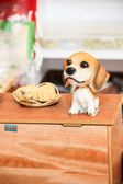 Statue of a dog placed on the table — Stock Photo