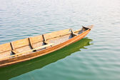 Wooden boats in the river — Foto Stock