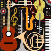 Abstract musical instruments — Vettoriale Stock