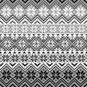 Nordic snowflake pattern — Stock Vector