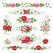 Roses collection - Stock Vector