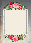 Vintage roses background — Stock Vector