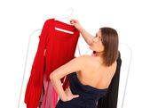Picking clothes — Stock Photo