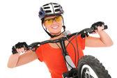 Mutlu bisikletçi — Stok fotoğraf