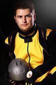 Handsome Parachutist — Stock Photo