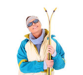 Skiing is fun! — Stock Photo