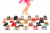 Comprar sapatos — Foto Stock