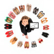 Circle of shoes — Stockfoto