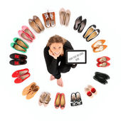 Circle of shoes — Stock Photo