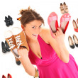 Stock Photo: Shoe sale!