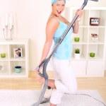 Vacuuming — Stock Photo