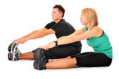 Double stretching — Stock Photo