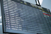 Departure board — Stock Photo
