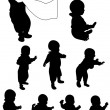 Baby first steps — Stock Vector #9219706