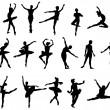 bailarín de ballet clásico — Vector de stock