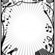 Stock Vector: Music element border