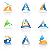 Abstract icons for letter A — Stock Vector