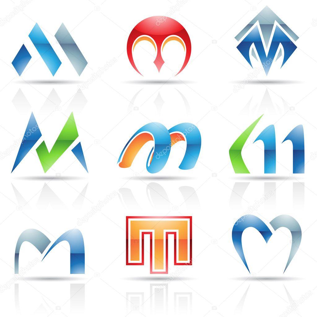基于字母 m 的抽象图标矢量插画 — 矢量图片作者 cidepix