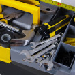 Stock Photo: Tools and box