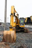 Earth-moving machinery - Backhoe — Stock Photo