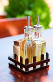 Bottle with oil and vinegar_2 — Stock Photo