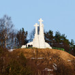 Three Crosses Monument. Vilnius. Lithuania - Stock Photo