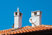 Seagull on the tiled roof. Nessebar, Bulgaria. — Stock Photo