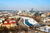 Vilnius and Neris — Stock Photo