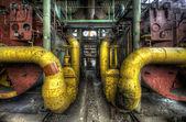 Tubos de amarelos — Fotografia Stock
