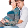 Portrait of happy young pregnant womwith her husband — Stock Photo #8758827