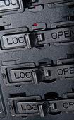 Cadeado aberto — Foto Stock