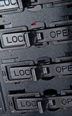 锁打开 — 图库照片