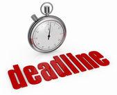 Concept of deadline — Stock Photo