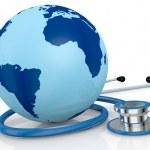 Stethoscope and world globe — Stock Photo
