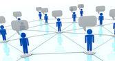 オンライン コミュニケーションの概念 — ストック写真