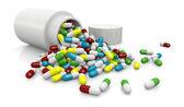 Pillole colorate — Foto Stock