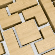 Wooden block puzzle - Stock Photo