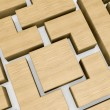Wooden block puzzle — Stock Photo