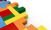 Quebra-cabeça do bloco de madeira — Fotografia Stock