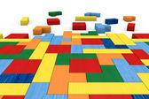 Wooden block puzzle — Stock Photo