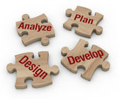 Project phases — Stock Photo