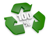 100 percent recycling concept — Stock Photo