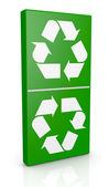 Symbol för återvinning som ett domino — Stockfoto