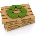 パレットとリサイクル シンボル — ストック写真