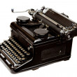 Old Style Typewriter Isolated on White - Stock Photo