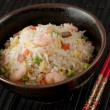 Bowl of Shrimp Stir Fry Rice, Traditional Chinese Food — Stock Photo #8136761