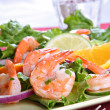 Stock Photo: Seasoned Juicy Cocktail Shrimp Plate