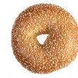 Sesame Bagel Isolated — Stock Photo