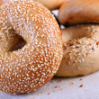 Fresh Baked Bagels Close-up — Stock Photo