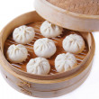 Stock Photo: Dumplings in steamer